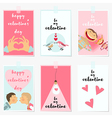 valentine posters vector image