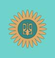 flat icon on background emblem of ukraine vector image