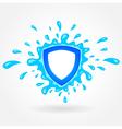 Clean water emblem splash drops liquid vector image