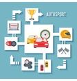 Auto Sport Concept vector image