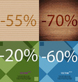 70 20 60 icon Set of percent discount on abstract vector image