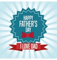 Happy fathers day icon design vector image