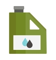 Metal canister of gasoline cartoon flat vector image