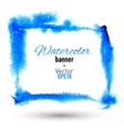 Hand drawn watercolor frame for your design vector image