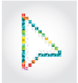 Abstract arrow of pixels vector image