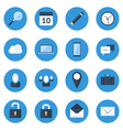 Blue Web Icon Set vector image