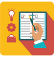 business planner icon vector image