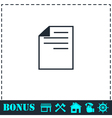 Document icon flat vector image