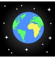 Earth and star Flat design space eps10 vector image
