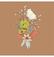 Flower bouquet botanical and floral decoration vector image