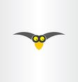 funny western jackdaw bird cartoon icon vector image