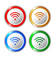 set of different wifi icons buttons for design vector image