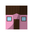 square one story house icon image vector image