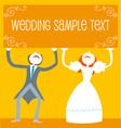 wedding cartoon couple vector image