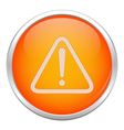 Orange warning icon vector image vector image
