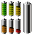 Battery charge level set vector image vector image
