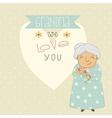 Card for Grandma vector image vector image