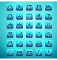 Big kit of buttons for the user interface and web vector image