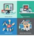 Digital Health Set vector image