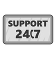 All-day client support icon gray monochrome style vector image
