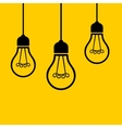 Light Bulbs Hanging from the Ceiling vector image
