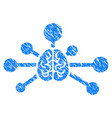 mind control links grunge icon vector image