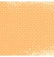 Polka Grunge Peach vector image