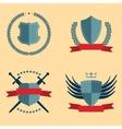 Shields - heraldic design elements vector image