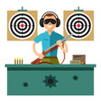 shooting range flat style colorful cartoon vector image