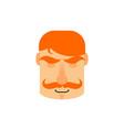 vintage irishman with red mustache sleeping emoji vector image