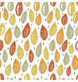 Autumn abstract leaves seamless pattern background vector image