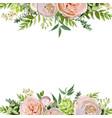 floral design square card design soft pink peach vector image