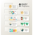 Baby child infographic vector image vector image