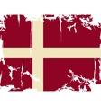 Denmark grunge flag vector image vector image