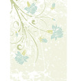 grunge decorative floral frame with bud element fo vector image vector image