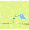 Birds greeting card design vector image