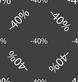 40 percent discount sign icon Sale symbol Special vector image