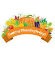 Happy Thanksgiving greetings vector image vector image