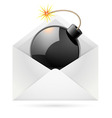 Bomb mail vector image vector image