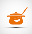 Logo pan with a ladle vector image vector image