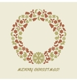 Christmas wreath in retro style vector image