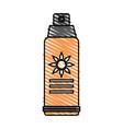 color crayon stripe image sun block spray bottle vector image