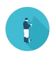 flat icon fisherman vector image