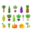 food vegetables and fruits set icons vector image