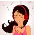 girl music vector image