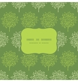 Green trees stripes seamless frame pattern vector image