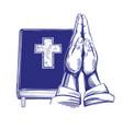 praying hands bible gospel the doctrine of vector image
