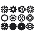gear collection machine gear vector image