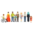 Multicultural society Group of different people vector image
