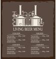 living beer menu vector image